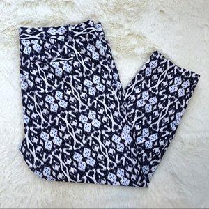 Gap geometric floral stretch cropped pants 20